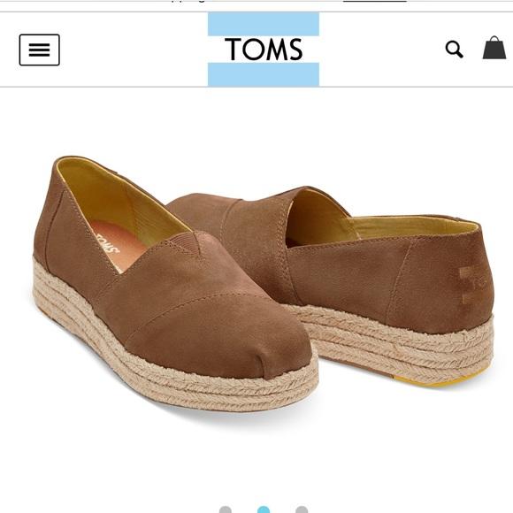 Toms Shoes   Toms Toffee Suede Platform